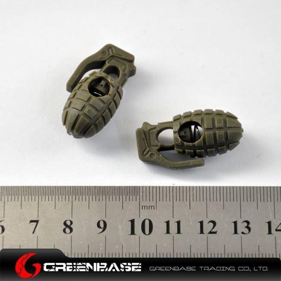 Mini Dummy Grenade Clamp 2pcs/Pack Green GB10041