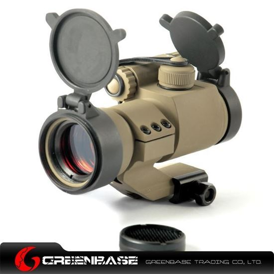 Picture of Tactical 1X32 Cantilever Mount Red Dot Rifle Scope with Kill Flash Fit 20mm Weaver Rail Dark Earth NGA0234