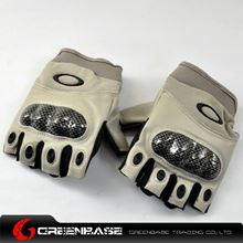 Picture of GB OK Half Finger Gloves TAN-M size NGA0800