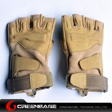 Picture of GB BH half finger Gloves TAN-M size NGA0806