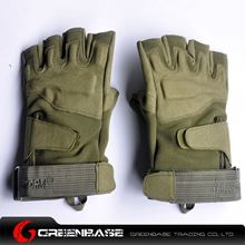 Picture of GB BH half finger Gloves Green-L size NGA0810