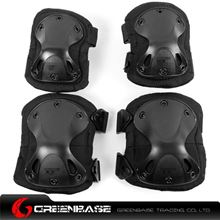 Picture of GB HT Elbow & KNEE Protective Pads Black NGA0338