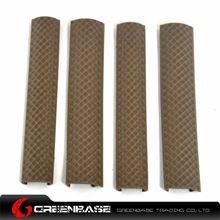 图片 4Rail rubber covers with line slot 4pcs/pack Dark Earth NGA0485