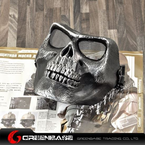 M02 soldiers face mask to protect the skeleton Silver Black GB10239