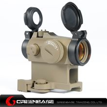 Picture of NB AI Micro T-2 QD Hight Mount Combo 1x24 Red Dot Scope With Killflash Dark Earth NGA1095