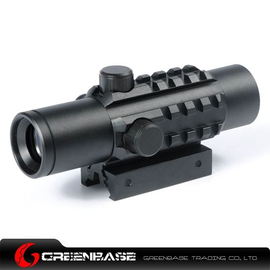 Picture of Tactical 1X28 Tri-Rail Red Dot Sight Scope With Integrated Twin Mount Fit 20mm and 11mm Rail For Hunting NGA0154