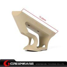 图片 GB CNC Keymod System Short Angled Grip Dark Earth GTA1349