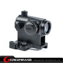 Picture of Tactical QD Quick Release Hight Mount 1X24 Red And Green Dot Sight Rifle Scope Fit 20mm Weaver rail For Hunting Black NGA0220