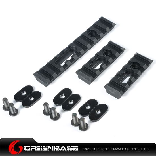 Picture of Unmark Polymer Rail Sections for MP handguard Black NGA0373