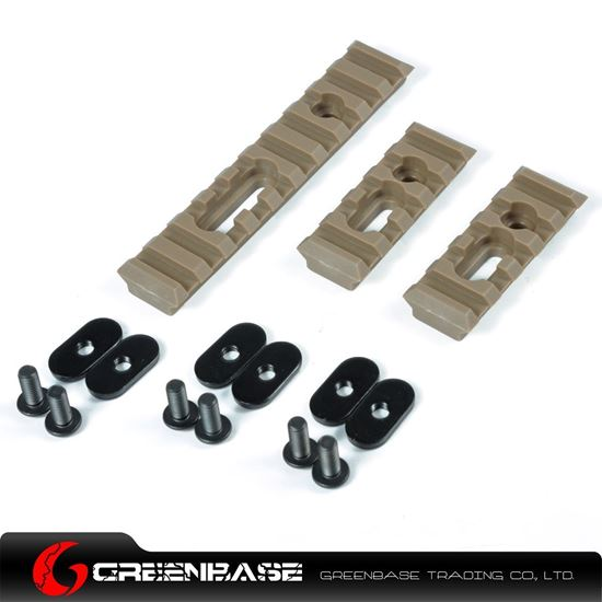 Picture of Unmark Polymer Rail Sections for MP handguard Dark Earth NGA0374