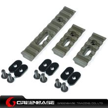 Picture of Unmark Polymer Rail Sections for MP handguard Olive Drab NGA0375