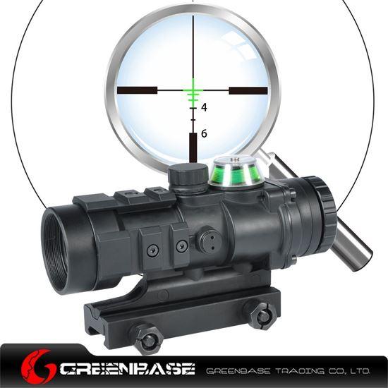 Picture of NB Gp01 Fiber Source Green Illuminated Riflescope Black NGA1195