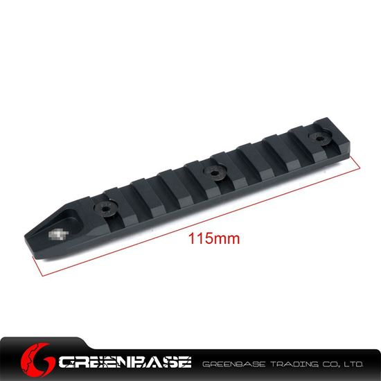 Picture of GB Keymod 9 slot rail section for URX 4.0 Black GTA1179
