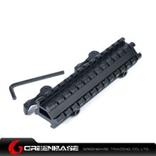 Picture of NB D0037 QD 20mm Rail Base Scope Mounts to Top and 45 Degree Side 20mm Rail Mount for Outdoors Hunting NGA1134