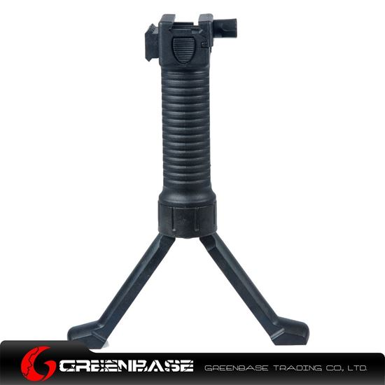 Picture of Unmark Tactical Foregrip Bipod with side rail Black GTA1122