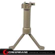 Picture of Unmark Tactical Foregrip Bipod with side rail Dark Earth GTA1215