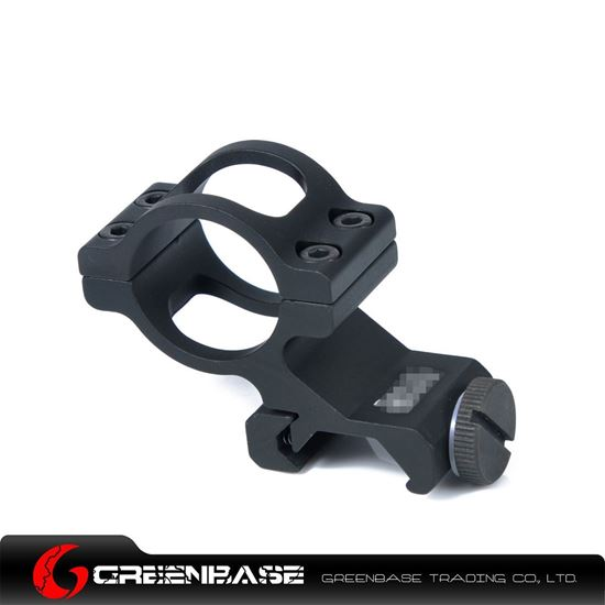 Picture of GB Offset 1 inch Flashlight Mount Black NGA0693