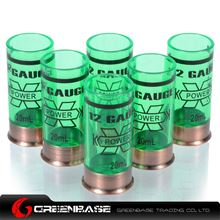 Picture of GB 12 Gauge 20ml Shotgun Shell Shot Glasses Set of Six Green NGA1297