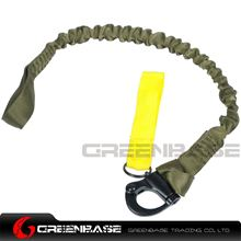 Picture of NB Tactical Elastic Safety Stretchable Safety Rope Military Secure Strap Protector Sling Olive Drab NGA1315