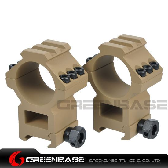 Picture of Tactical Top Rail extend 30mm Rings Dark Earth  NGA0225