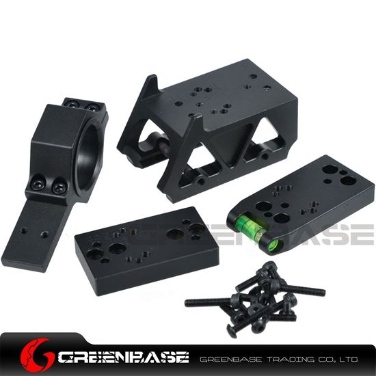 Picture of NB DOC/RM/DP PRO/T1/T2 Red Dot Sight Mount Multifunctional Mount With Riser Mount For Airsoft Black NGA1339