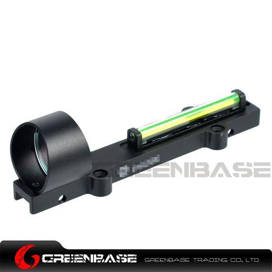 Picture of GB 1X28 Collimeter Sight Optic Fiber Green Circle Dot Sight For Shotgun Black NGA1345
