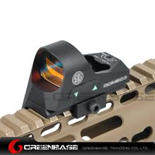 Picture of GB 1x25 Mini Reflex Sights 1 MOA Adjustments 3 MOA Dot Reticle Red Dot Sight With 1913 Mount/QD Mount Black NGA1358