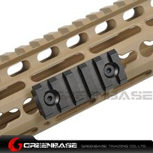Picture of NB 5 Slots Keymod Rail Mount Base 55mm Picatinny Weaver Rail For Keymod Handguard System Black NGA1441