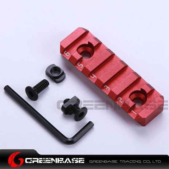 Picture of NB 6 Slots Dual Interface M-LOK Rail Section Red NGA1370