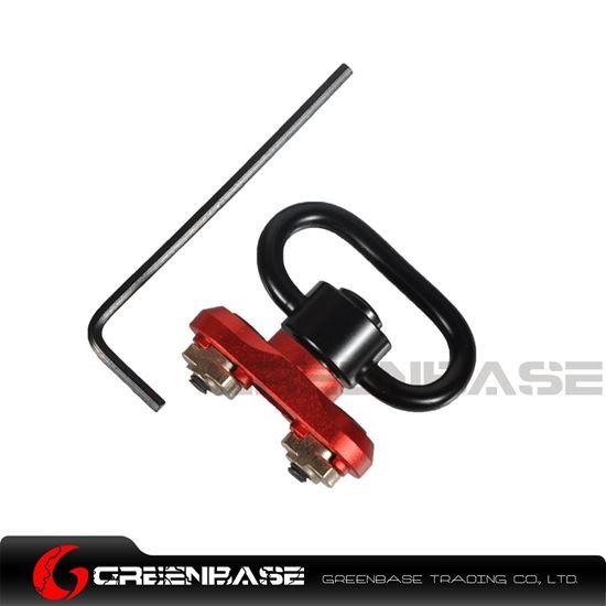Picture of NB QD Quick Detach M-LOK Sling Swivel Mount Adapter For MLOK Handguard Red NGA1570  NGA1570