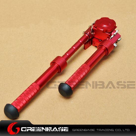 "Picture of V8 Atlas lBipod Clone 6.5""-9"" Rifle Adjustable Bipod Spike Feet Bipod Grip Red NGA1594"