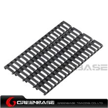 Picture of Ladder 18 Slots Low Profile Rail Covers 4pcs/pack Black NGA0084
