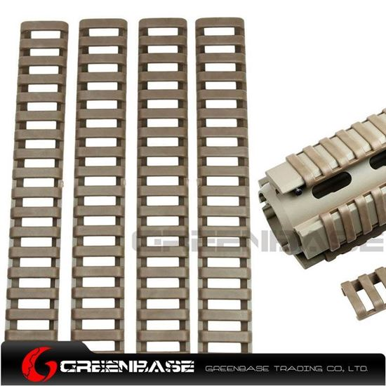 Picture of Ladder 18 Slots Low Profile Rail Covers 4pcs/pack Dark Earth NGA0085
